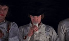 """The """"droogs"""" in Anthony Burgess' dystopian novella A Clockwork Orange, which was included by Time magazine on a list of the 100 best English-language novels of the 20th century."""