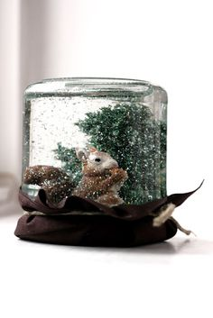Do-it-yourself snow globe. Great Cub Scout activity.