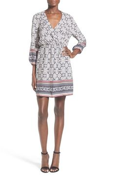 dee elle Print Faux Wrap Dress available at #Nordstrom