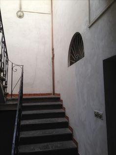 "Interior stairwell ""before"""