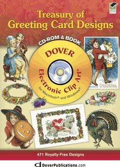 Treasury of Greeting Card Designs CD-ROM and Book dover
