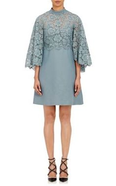 Lace-Cape Shift Dress - $4990