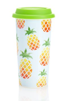 "Nothing quite says ""Hello Summer!"" like this Pineapple Coffee Tumbler."