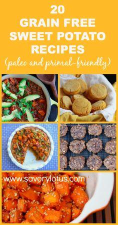 20 Grain Free Sweet Potato Recipes (paleo and primal-friendly) |   savorylotus.com