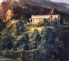 Thomas Cole: Dream of Arcadia. Detail. 1838. Oil on canvas.