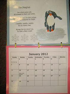 It's a Preschool Party: Handprint Calendar as parent Christmas gifts :) Preschool Projects, Daycare Crafts, Classroom Crafts, Preschool Activities, Crafts For Kids, Classroom Ideas, Daycare Ideas, Preschool Calendar, Preschool Christmas