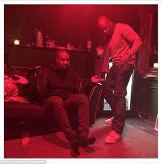 Giving mood: Kim Kardashian shared a snap on her Instagram account of husband Kanye West g...