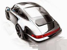 #Porsche 911 Carrera painting by Sergey Karlin #carart #automotiveartists #formtrends #painting #porsche911