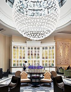 The lobby of the Corinthia Hotel is an elegant setting for afternoon tea.