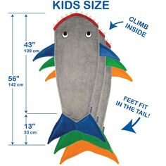 Kids Shark Blanket by Blankie Tails® - Assorted Colors - Blankie Tails - 6 for boy Sewing Projects For Kids, Sewing For Kids, Sewing Crafts, Sewing Ideas, Shark Tail Blanket, Mermaid Tail Blanket, Gifts For Teen Boys, Birthday Gifts For Kids, Manta Polar
