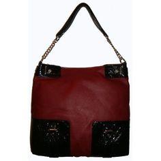 Vera Wang  Simply Vera Vera Wang Purse Handbag Tote Red/Black $99.00