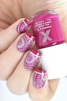 Paint Party #pinkmani #formulax #pinkpolish #marinelp #nailart - bellashoot.com