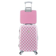 Jetset in style with this essential hardside luggage set, featuring a recessed locking handle, 4 multidirectional wheels for easy rolling, and an eye-catchin...