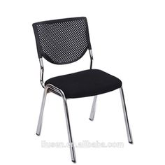High Grade Modern Ergonomic Meeting Hall Chair Black No Wheels