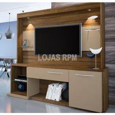 Home Arezzo - Móveis Bechara -Espaço para TV de 100x120 cm -1 Porta -1 Gavetas -Prateleiras de vidro -Lâmpada de led R$1.299,90 10x de R$129,99 ou R$1.104,92 no Boleto ou Transferência