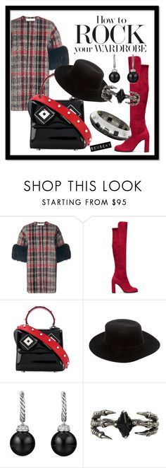 """""""UNTITLED"""" by seus-eky ❤ liked on Polyvore featuring Ava Adore, Stuart Weitzman, Les Petits Joueurs, Janessa Leone, David Yurman and KD2024"""