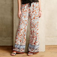 """Brand New Hei Hei Bohemian Pants These pants are the absolute perfect addition to any closer for Spring/Summer '16. These are great for BBQ's, errands, or anything you may need to do!                                                         By Hei Hei Rayon Elastic waist Side slip, back welt pockets Hand wash Imported Regular: 30.5"""" inseam Anthropologie Pants Wide Leg"""