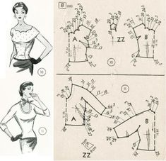 Amazing Sewing Patterns Clone Your Clothes Ideas. Enchanting Sewing Patterns Clone Your Clothes Ideas. Barbie Patterns, Vogue Sewing Patterns, Vintage Sewing Patterns, Clothing Patterns, Sewing Hacks, Sewing Tutorials, Sewing Projects, Sewing Clothes, Diy Clothes