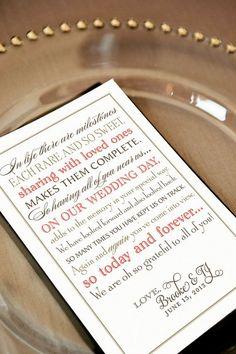 Grateful wedding thank you wording