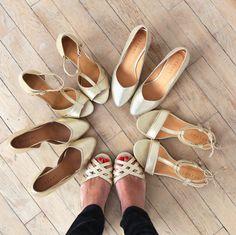 Sézane / Morgane Sézalory - www.sezane.com #sezane #spring #goldshoes