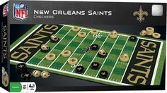 NEW CHECKERS Family Game NFL NEW ORLEANS SAINTS Football Sports #MasterPieces