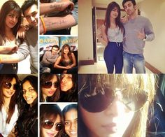 """#Priyanka Chopra's the new rock chick in town -   Priyanka Chopra has been posting some cute pictures on Twitter of Ranbir Kapoor and herself promoting their forthcoming Anurag Basu movie Barfi!. And apart from showing off the cute little forearm tattoo that reads """"Daddy's little girl' and competing with Ranbir, who painted on a fake 'Mommy's big boy' tattoo, Priyanka has also been spotted with a new hairstyle.    She now has a much straighter mane with bangs – a total rock chick look!"""