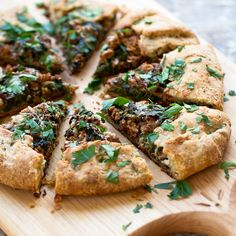 Spinach Galette with Wild Mushrooms - Spinach + MUshrooms is still one of my favourite combinations