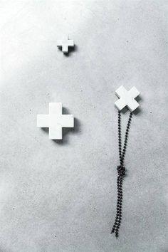 hk living set de 3 patres marble gris 55cm hk living - Patere Colore