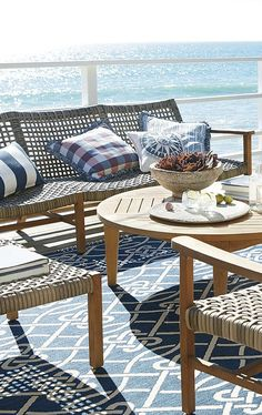 With a breathable open weave, our Isola Seating Collection is the perfect fit for arid and coastal climates alike. Outdoor Rooms, Outdoor Gardens, Indoor Outdoor, Outdoor Living, Outdoor Furniture Sets, Outdoor Decor, Coastal Style, Coastal Living, World's Most Beautiful