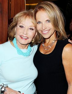 Two strong women - Barbara Walters and Katie Couric Famous Women, Famous People, Barbara Walters, Katie Couric, Intelligent Women, Extraordinary People, Inspiring Women, Inspiring People, Aging Gracefully