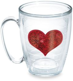 Tervis Tumblers are my favorite drinkware - Tervis® Sequin Heart 15-Ounce Mug in Red