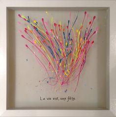 Atelier de peinture acrylique sur plexi