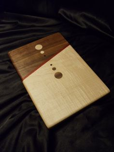 Mirrored Circles Wood Cutting Board W/ Figured Maple