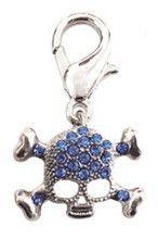 Blue Skull Charm