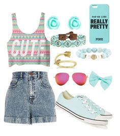 """""""Cute girl"""" by niyafashion on Polyvore featuring River Island, Converse, Monsoon, Chan Luu, Allurez, Devoted and Wet Seal"""
