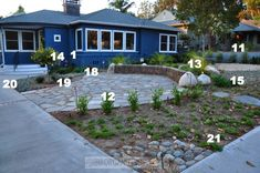 Make sure the plants are native to your planting zone. Plant placement for native, drought tolerant front yard :: OrganizingMadeFun.com