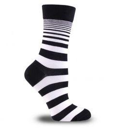 Siyah-Beyaz Desenli Özel Çorap