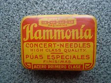 HARMONIA gramophone needle tin -INNER PAPER - full of needles