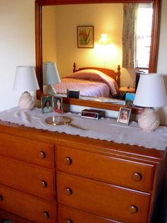 We had a maple dresser like this one in the 1950's...the large wooden knobs were memorable