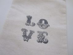 LOVE Muslin Gift Pouches by frenchcountry1908 on Etsy, $6.25