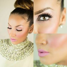 love this makeup for the bridesmaids. but with a lighter nudish pink lip color Gorgeous Make Up, Makeup Junkie, Hair Makeup Tattoo, Lipsticks Eyes Blushes, Hair Makeup 3, Flawless Face, Hair Nails Mak, Makeup Beautiful, Eyeshadows Makeup