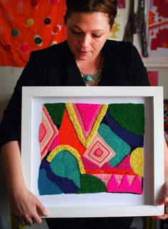 Textile Art 48765608451771877 - An interview and studio visit with Sydney-based textile and embroidery artist Liz Payne. Photo: Lisa Tilse for We Are Scout. Modern Embroidery, Embroidery Art, Embroidery Stitches, Embroidery Patterns, Abstract Embroidery, Punch Needle, Textile Artists, Fabric Art, Fiber Art