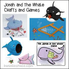Jonah and the Whale Bible Crafts for Sunday School from www.daniellesplace.com -  copyright 2014 Sunday School Crafts For Kids, Bible Crafts For Kids, Preschool Bible, Bible Activities, Sunday School Lessons, Activities For Kids, School Ot, Kids Bible, Jonah And The Whale
