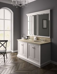 Classic in style, old-fashioned in its attention to detail and thoroughly modern in its extravagance, Regent furniture is handcrafted, hand-finished and hand-painted. http://www.cphart.co.uk/view-our-brochures/  #bathrooms #bathroomideas #bathroomfurniture
