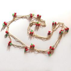 '40s Floral Beaded Necklace, $80, now featured on Fab.