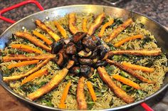 Vegan paella from what the hell does a vegan eat anyway? blog.  Gorgeous and versatile.