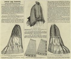 1875 Dress And Fashion. From New York Public Library Digital Collections.