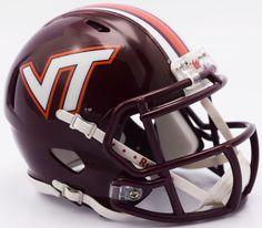 Virginia Tech Hokies Riddell Mini Speed Helmet - 2016