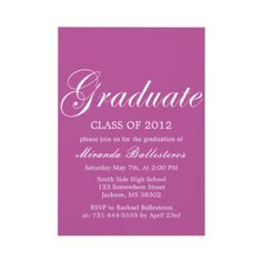 Shop Purple Elegance Design Graduation Announcements created by AllyJCat.