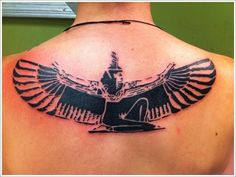 Egyptian Pyramid Tattoo with Eye of Horus Sun and Eagle